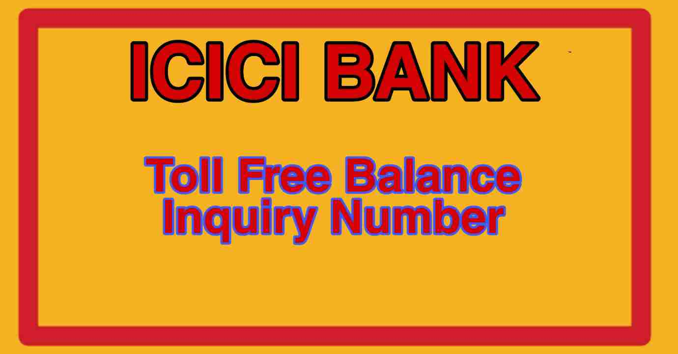 ICICI bank toll free number
