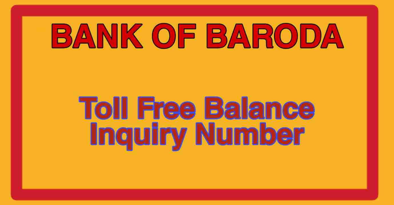 Bank Of Baroda Toll Free Number