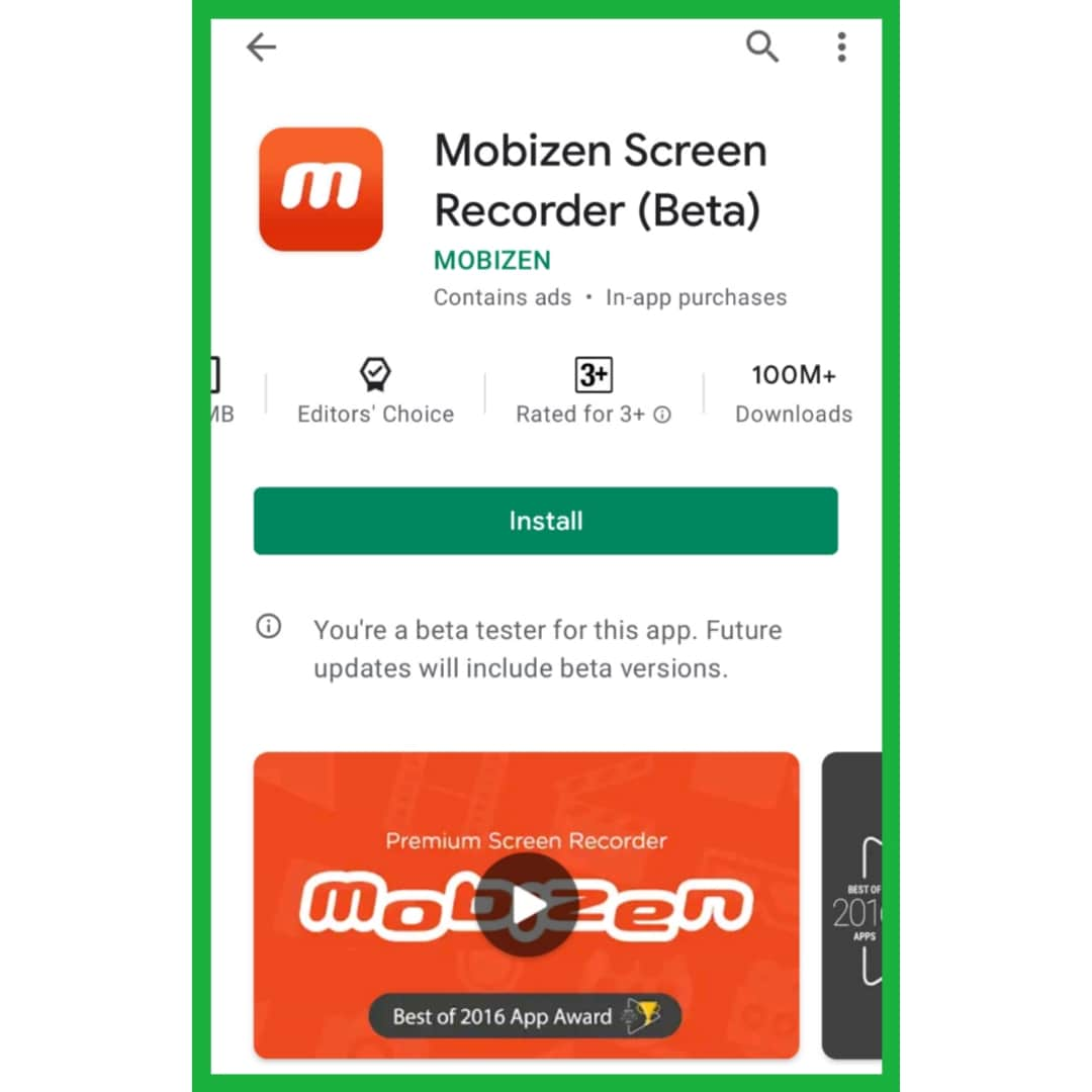 Mobizen Screen Record